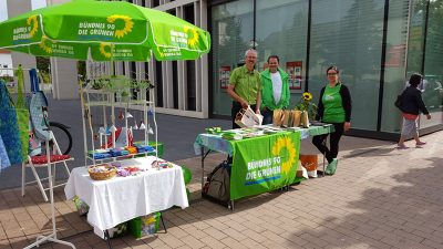 Wahlstand der Grünen Groß-Gerau